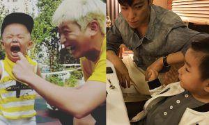 Image: Jinwoon and T.O.P with nephews over Chuseok