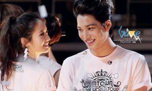 Image: Kai and Krystal at SMTOWN '12 / Fantaken by Gazeexo @ Weibo