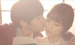 "Image: INFINITE's L kissing female lead in Sungkyu's ""60Sec"" music video / Woollim Entertainment"
