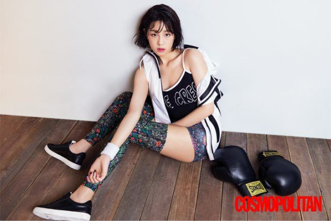Park Bo Ram takes on a boxer concept for COSMOPOLITAN / Image Source: COSMOPOLITAN Korea