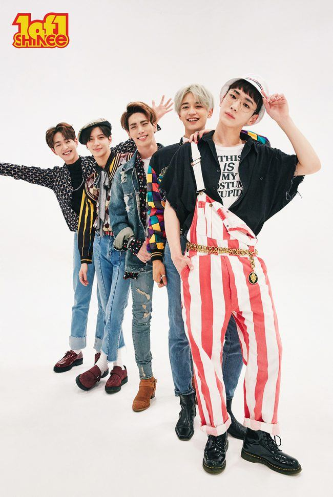 "SHINee group photo for album ""1 of 1"""