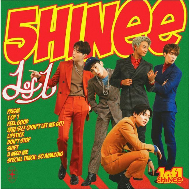 "Image: Tracklist for SHINee's ""1 of 1"" album / SM Entertainment"