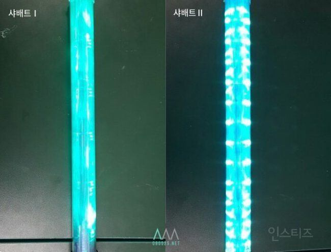 Image: Comparing SHINee's first light stick to the newest version / Instiz