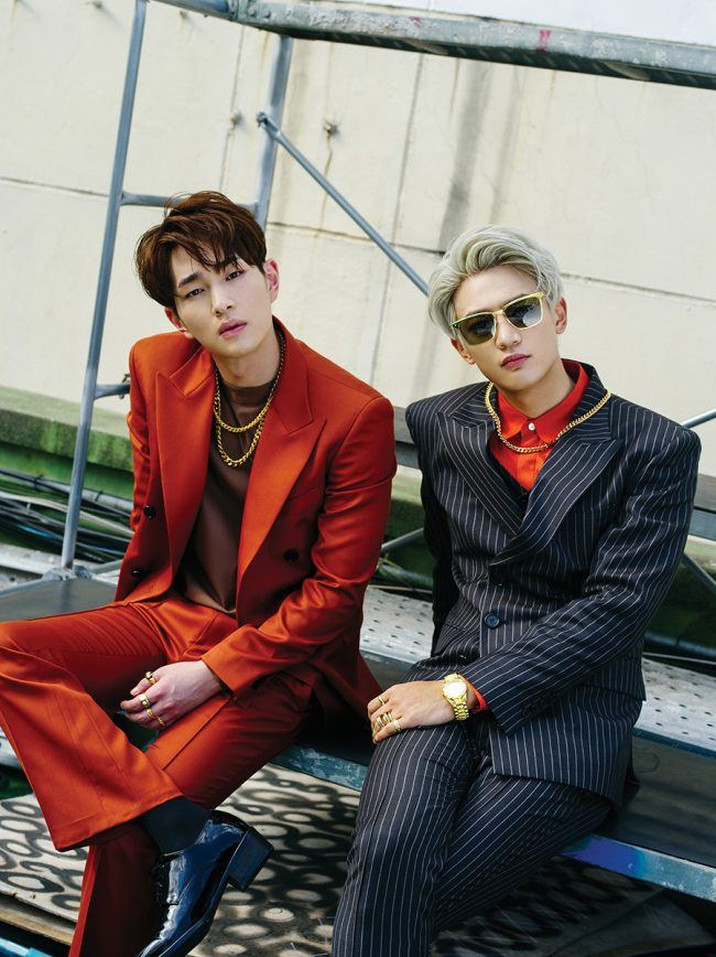 "SHINee's Onew and Minho for album ""1 of 1"" / Image Source: SM Entertainment"