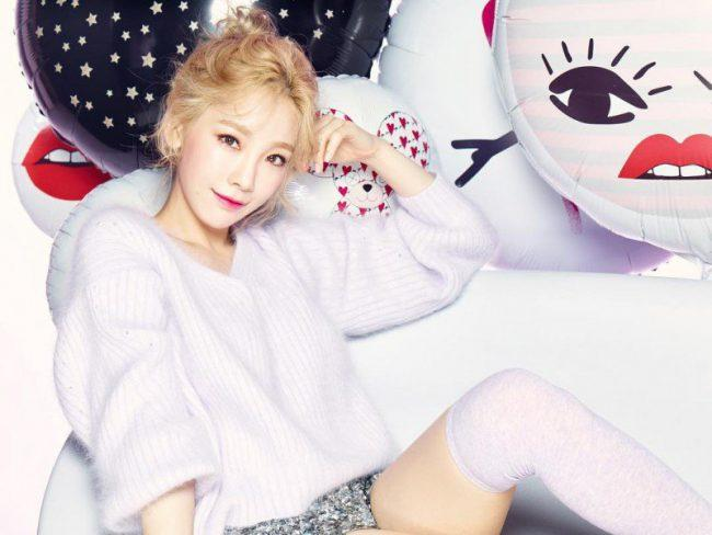 Taeyeon shows off her beautiful complexion as the model for Banilla Co / Image Source: Taeyeon's Instagram via Instiz