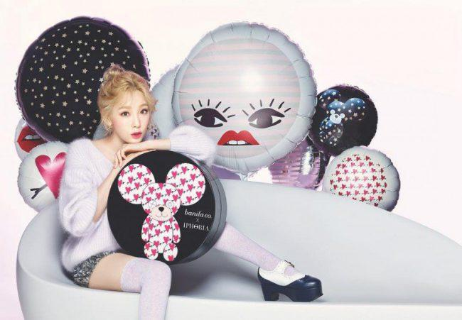 Taeyeon gives an adorable look for Banilla Co photo shoot / Image Source: Taeyeon's Instagram via Instiz