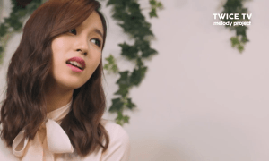 """Image: TWICE's Mina from her """"Melody Project"""" video for TWICE TV / JYP Entertainment"""