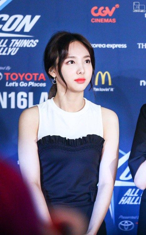 Image: Nayeon at the red carpet of an event / Fan take photo, credited as tagged