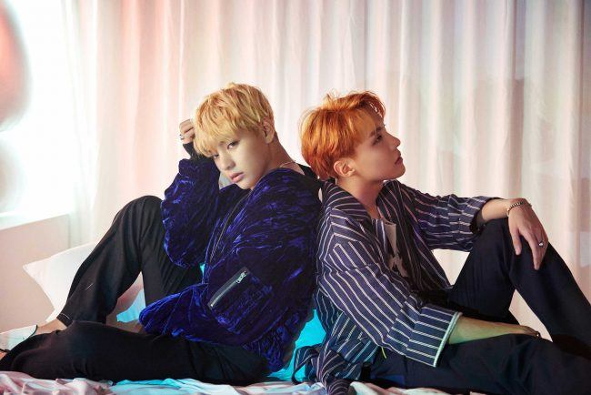 "Image: BTS' V and J-Hope teaser image for ""WINGS"" / Big Hit Entertainment"