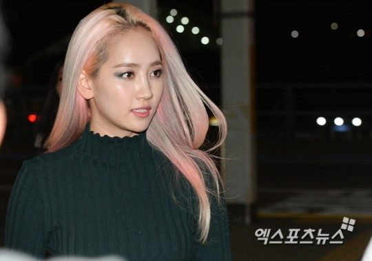 Wonder Girls' Yeeun at Incheon International Airport, on her way to Thailand / Image Source: Xportsnews