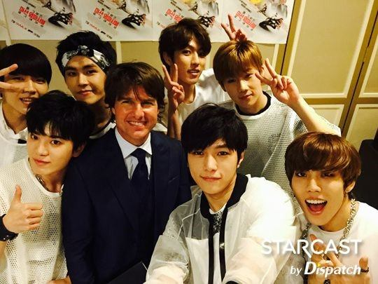 Infinite with actor Tom Cruz