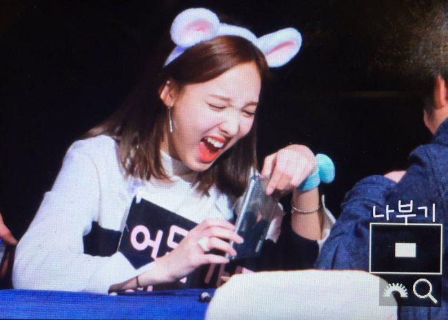 Nayeon reacting to Windy Day Album