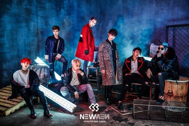 BTOB group photo for New Men