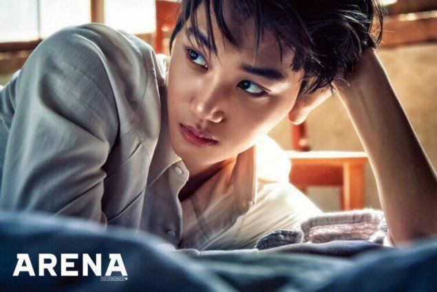 "EXO's Kai Poses for ""Arena Homee"" Magazine / Image Source: YES24"