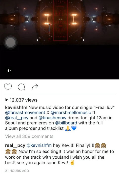 EXO's Chanyeol comments on Far East Movement's Kev Nish / Image Source: Kevnishfm