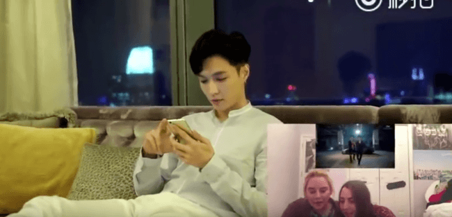 EXO's Lay Watches Fan Reactions/ Image Source: Lay's Weibo Account
