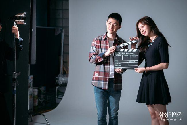 "EXO's D.O. and Actress Chae Seo Jin for ""Positive Physique"" / Image Source: Young Samsung"