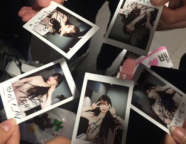 Suzy Signed Polaroids // Source: Intz
