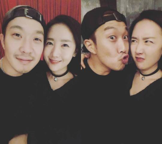 Haha and Byul's adorable couple photos / Image Source: Byul's Instagram