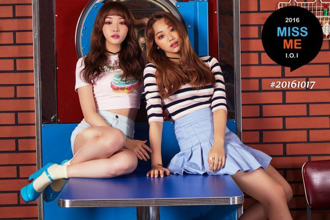 I.O.I members Chungha and Mina / Image Source: YMC Entertainment