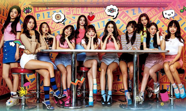 "I.O.I show off their cute complexions in ""Miss You"" group concept / Image Source: YMC Entertainment"