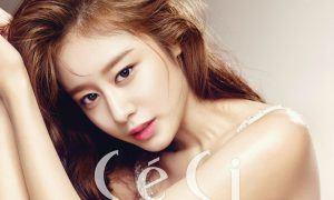 T-ARA's Jiyeon for CeCi / Image Source: CeCi