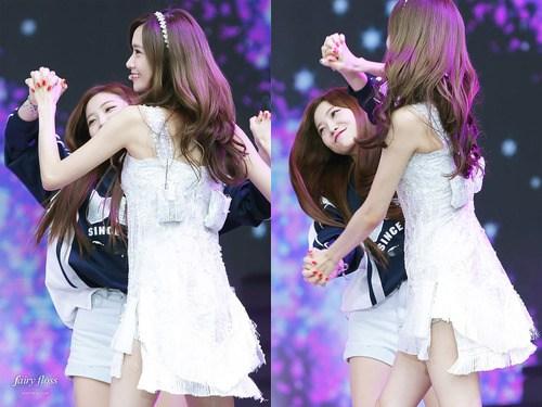 Yoona and Yeri being playful