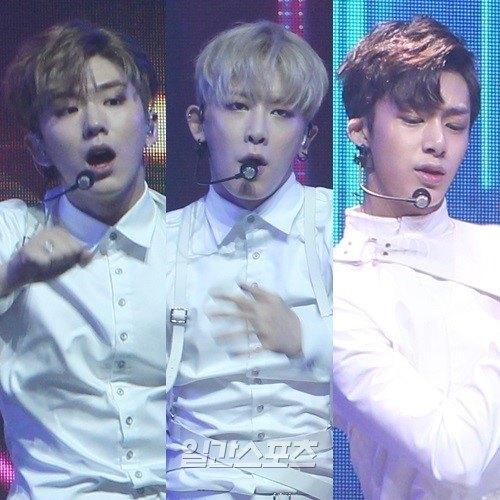 MONSTA X's Kihyun, Wonho and Hyungwon / Image source: Ilgan Sports