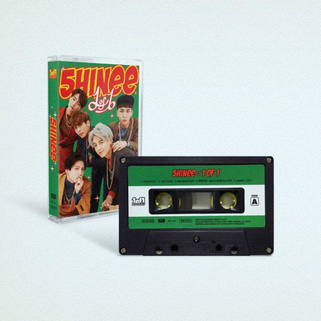 "Cassette tape version of SHINee's 5th album ""1 of 1"" / Image Source: SM Entertainment via Instiz"