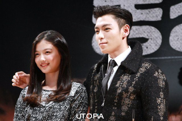 T.O.P shows off his manner hands with Kim Yoo Jung