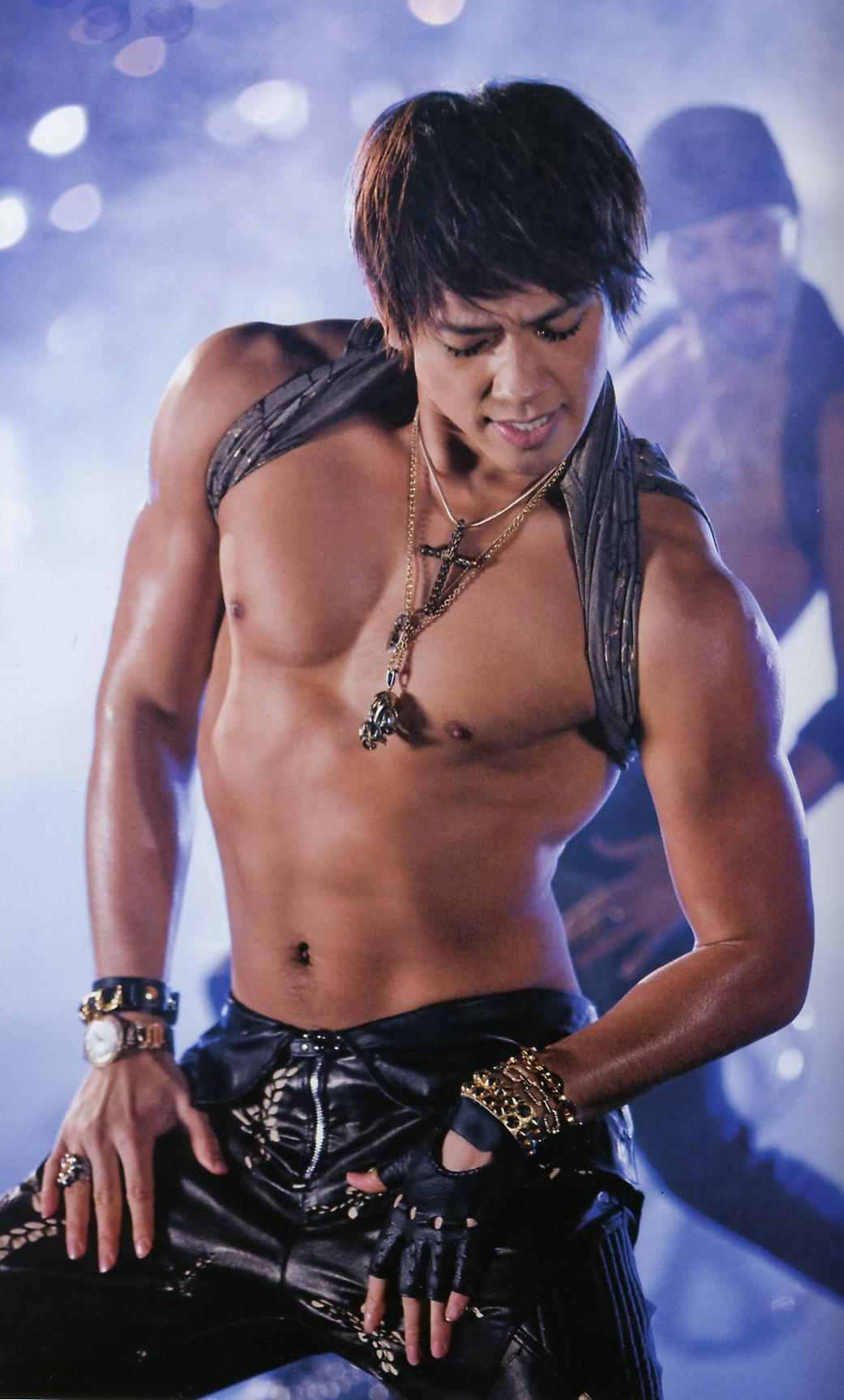 Rain and his sexy body.