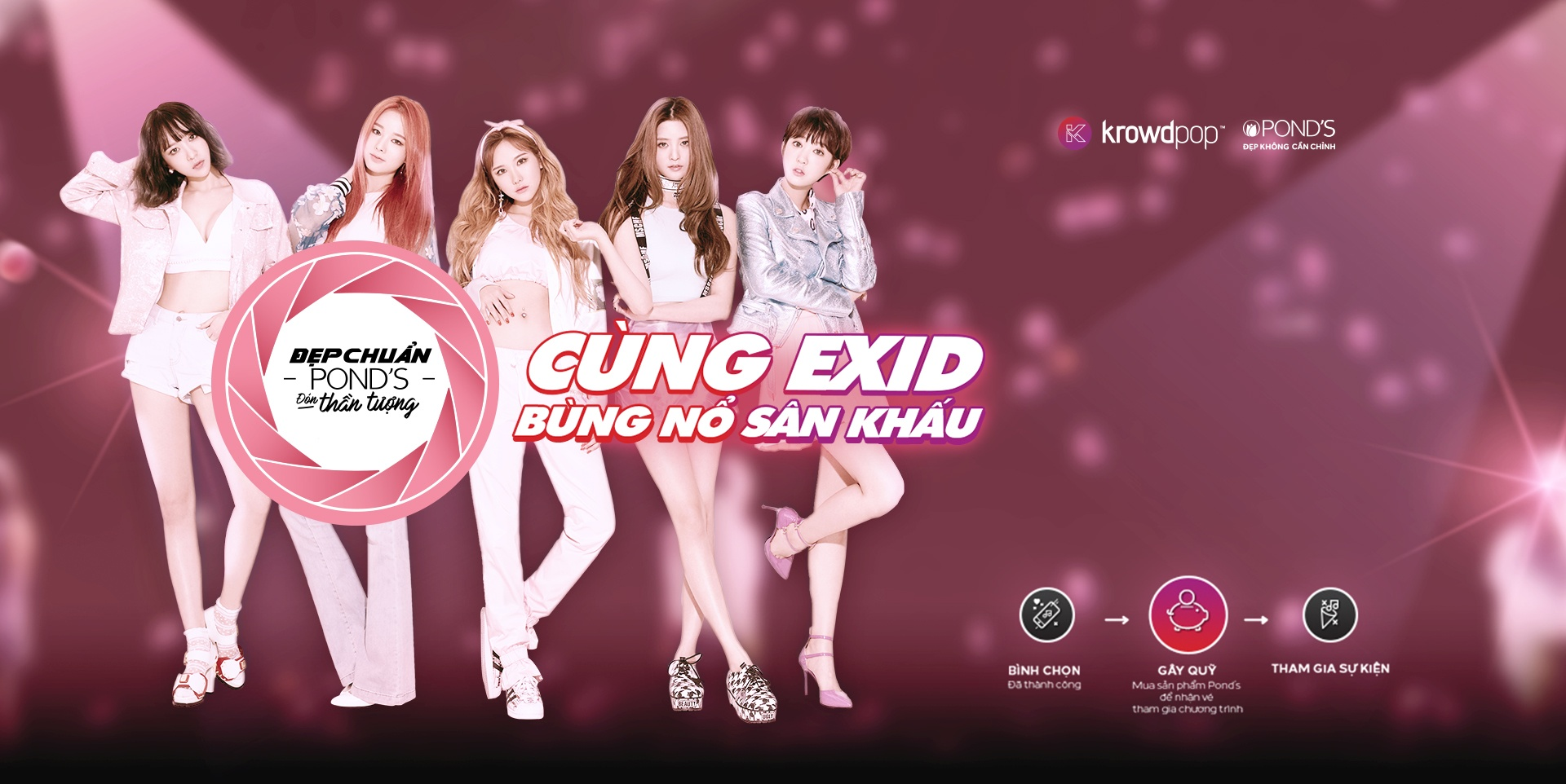 The banner being used on Krowdpop's website to market this event.