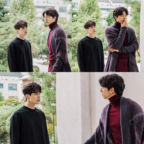 Gong Yoo y Lee Dong Wook en el set de Goblin, ensayando su escena