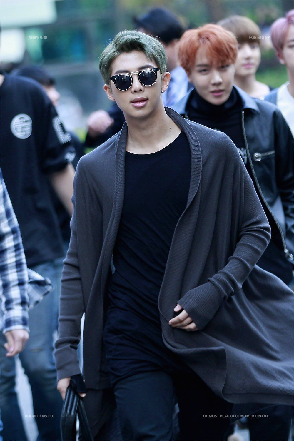Rap Monster showing off some of that swag that that landed him a spot in BTS.