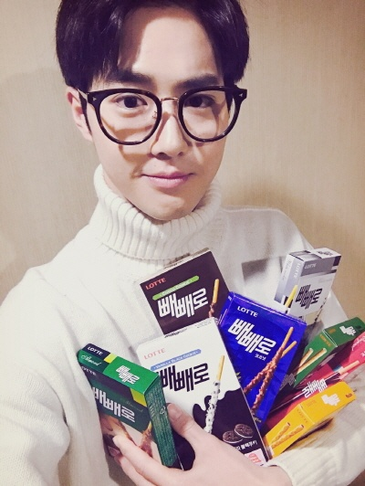 EXO's Suho Warmly Greets EXO-Ls for Peppero Day / Image Source: EXO-L Official Website