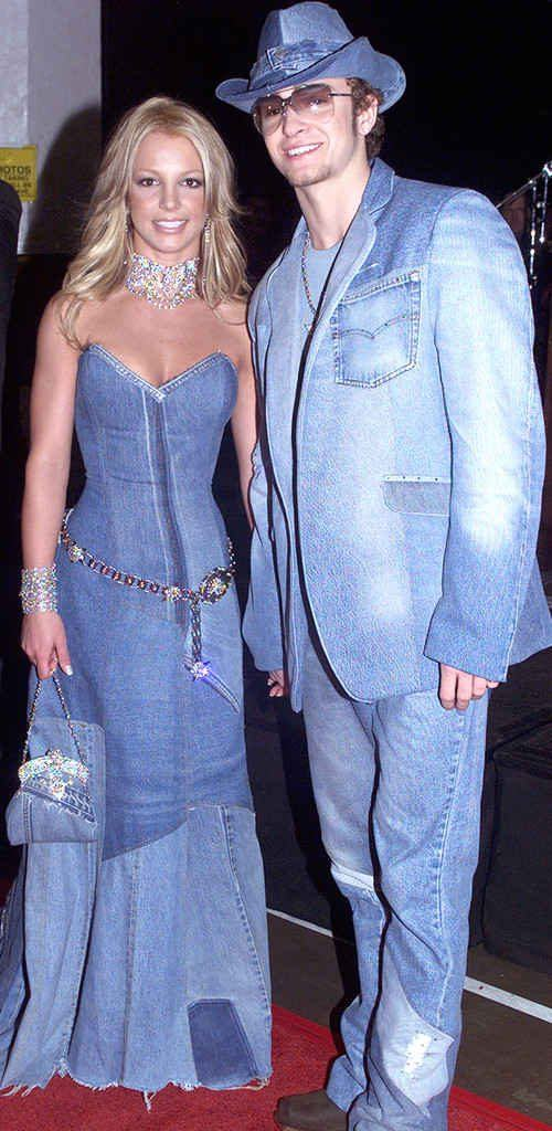 Britney and Justin in denim