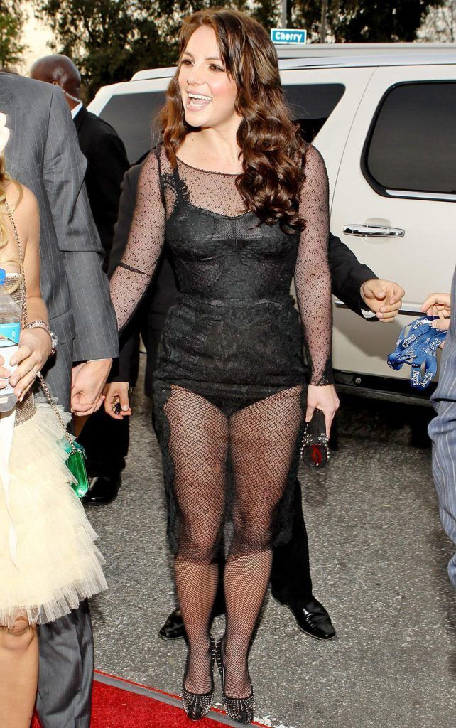 Britney Spears in a lace dress