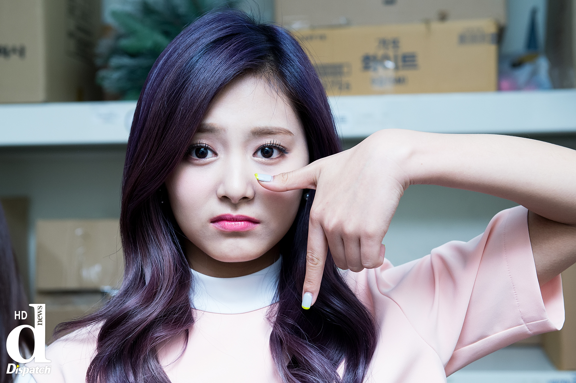 "Tzuyu in a cute but sad ""TT"" pose"