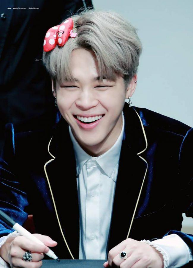 Jimin at a fan sign.