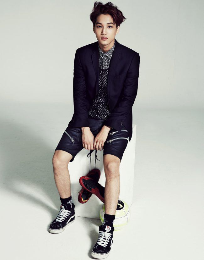 Kai poses for photoshoot.