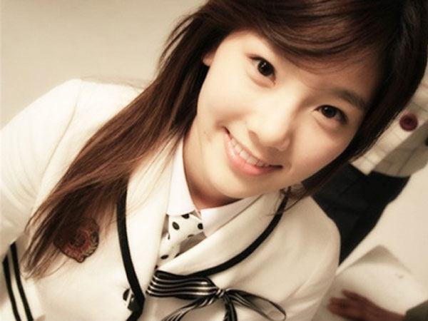 Cutie in school uniform