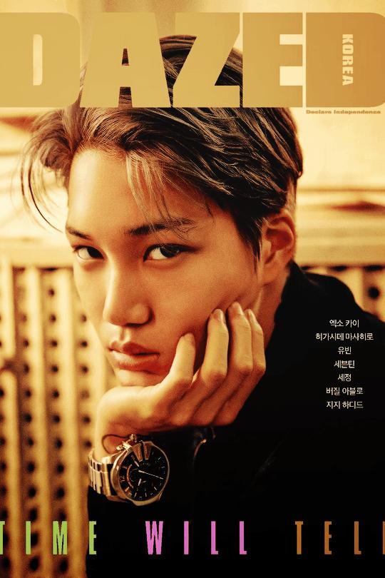 """EXO's Kai for """"Dazed Korea"""" December Issue / Image Source: Dazed Korea"""
