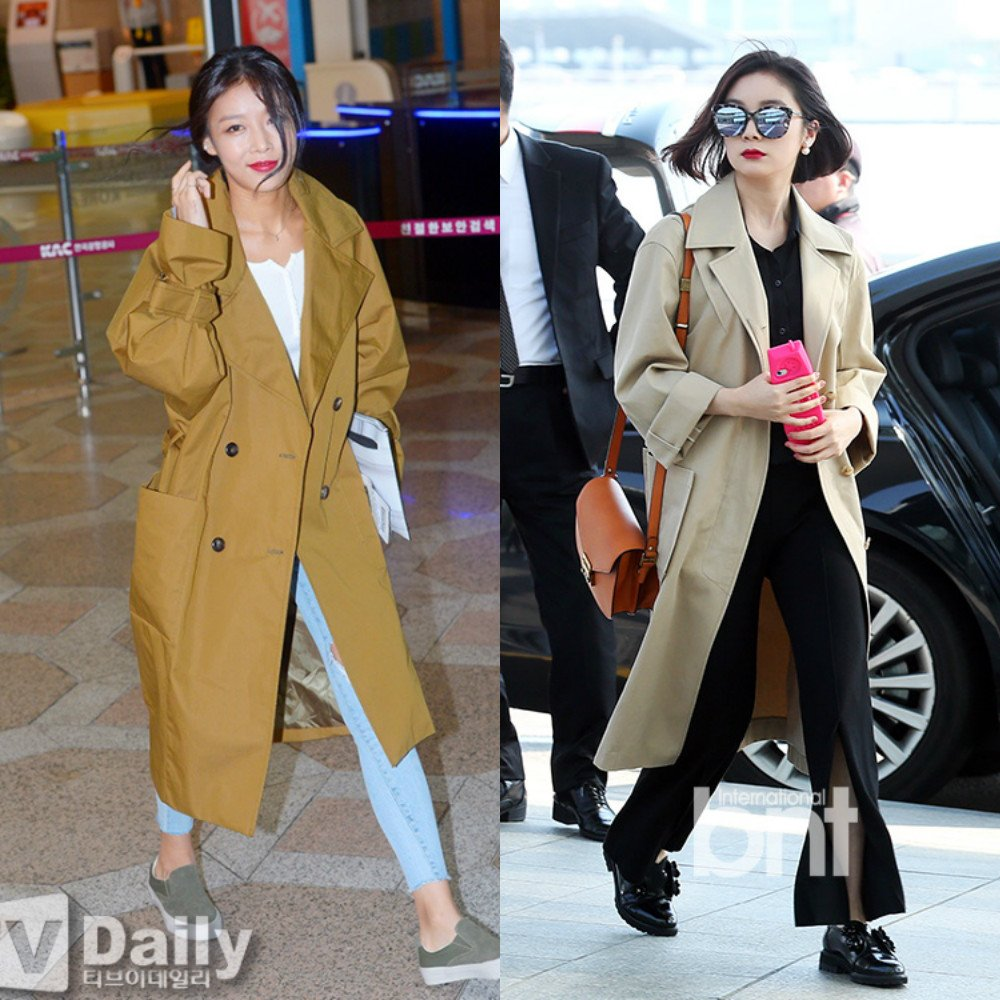 Wonder Girls Hyelim and Yubin Trench Coats