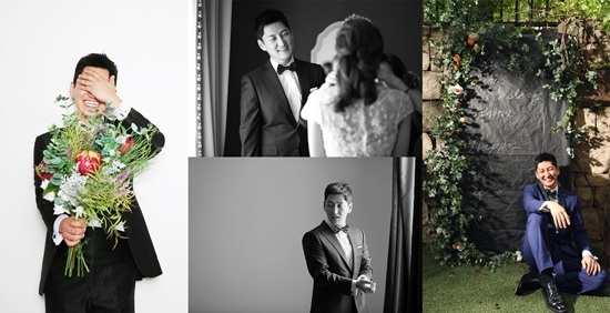 Wedding photoshoot pictures of actor Jung Sookyo. / Image source: Dispatch