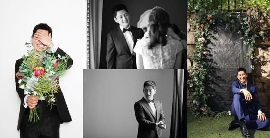 Wedding photoshoot pictures of actor Jung Sookyo. / Image source: Dispatch