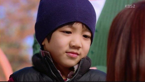 "Yugeun as Hwang Jungeum's son San in ""Secret""."