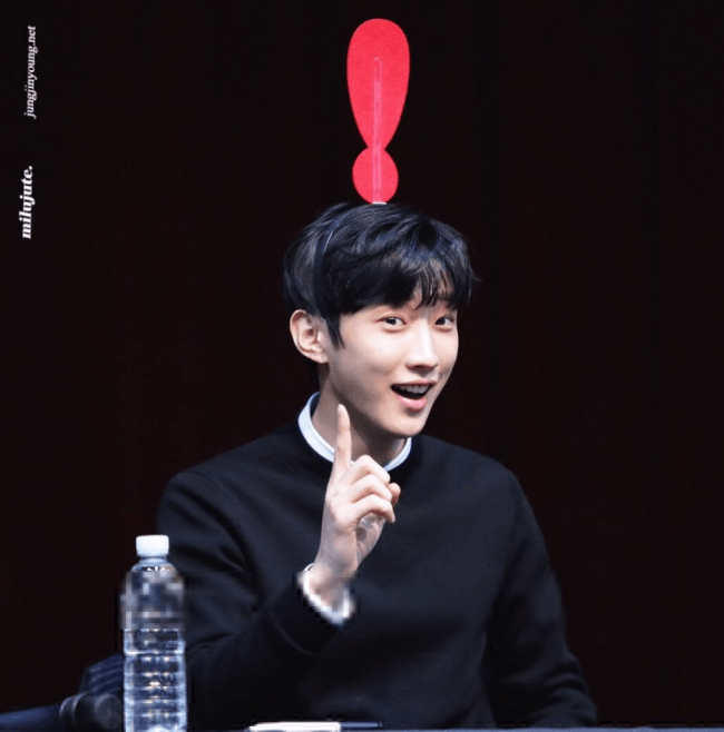 Jinyoung at a fan meet