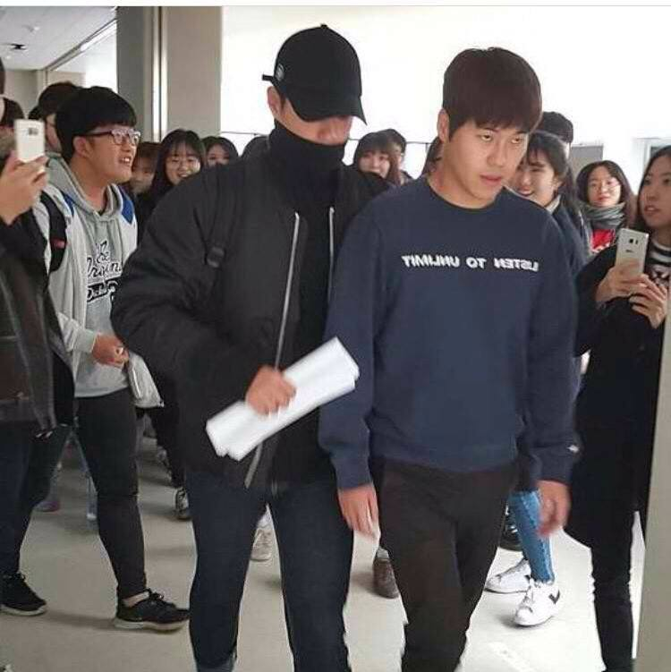 Bogum never goes far without his manager by his side.