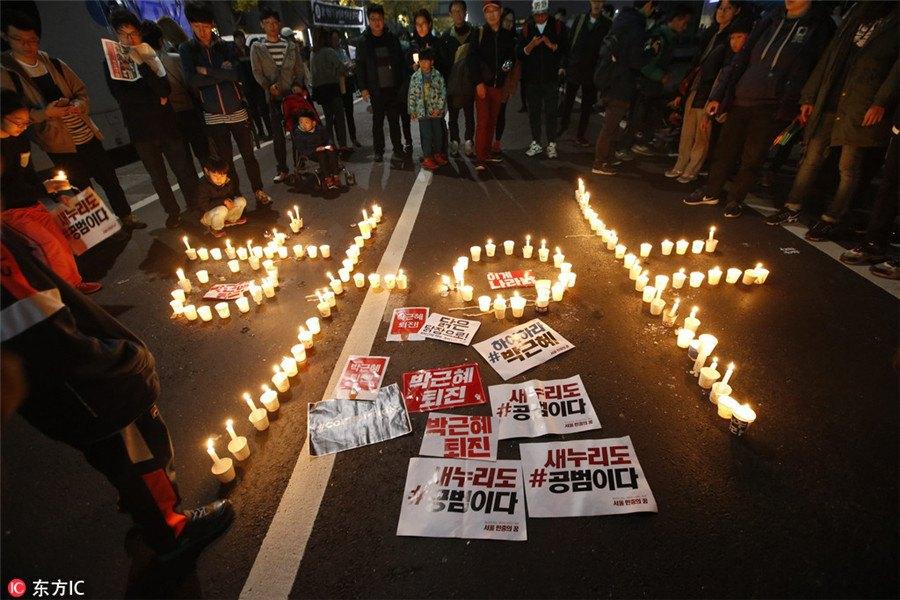 Park Geun-hye protest.