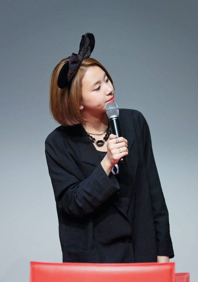 Chaeyoung at a fanmeet!
